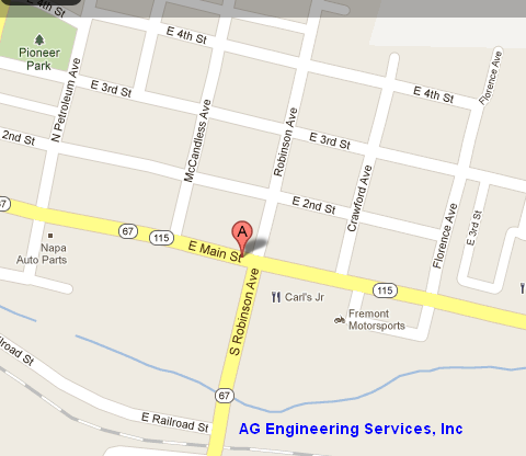 Map to AG Engineering, Florence Colorado